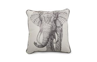 Leather Feature Scatter Cushion Elephant Scatter