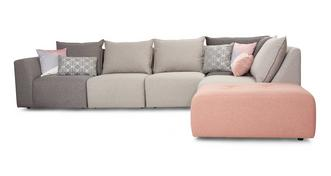 Dusky Left Hand Facing Arm Corner Sofa