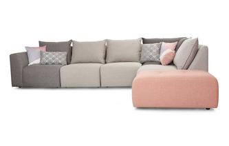 Left Hand Facing Arm Corner Sofa Dusky