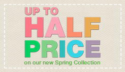 Half Price! Up to 50% off