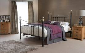 Ebony Double (4 ft 6) Bed Frame Ebony