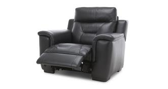 Editor Leather Manual Recliner Chair