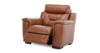 Editor Leather and Leather Look Manual Recliner Chair