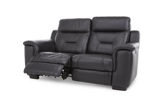 Leather 2 Seater Electric Recliner Bacio Vellutato
