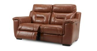 Editor Leather and Leather Look 2 Seater Electric Recliner