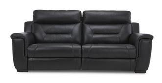 Editor Leather 3 Seater Manual Recliner