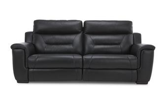 Leather 3 Seater Manual Recliner Bacio Vellutato