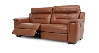 Editor Leather and Leather Look 3 Seater Manual Recliner
