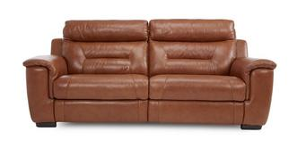Editor Leather and Leather Look 3 Seater Electric Recliner