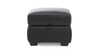 Editor Leather Storage Footstool