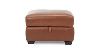 Editor Leather and Leather Look Storage Footstool