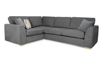 Right Hand Facing 2 Seater Corner Sofa Sherbet