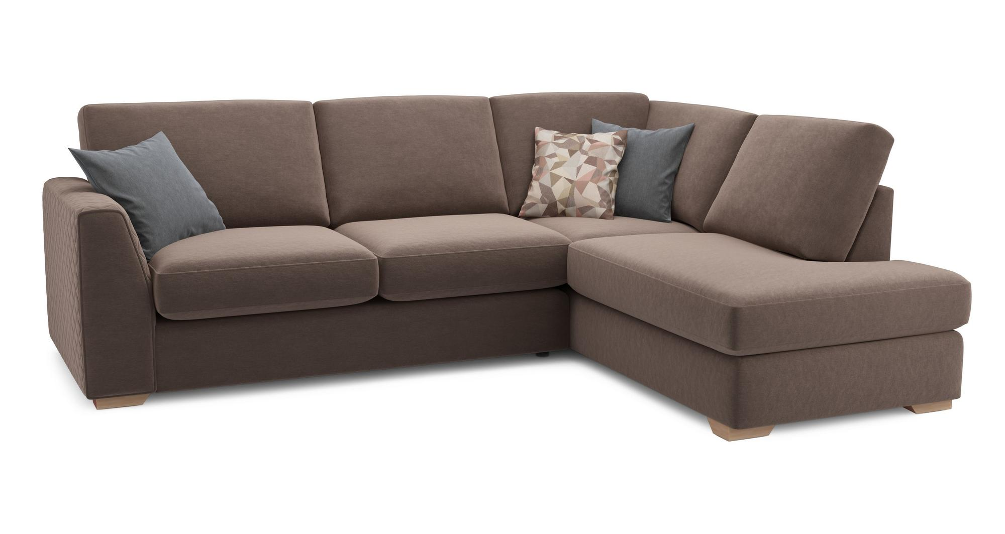 Dfs Eleanor Mocha Brown Fabric Left Arm Facing Open End Corner Sofa Ebay