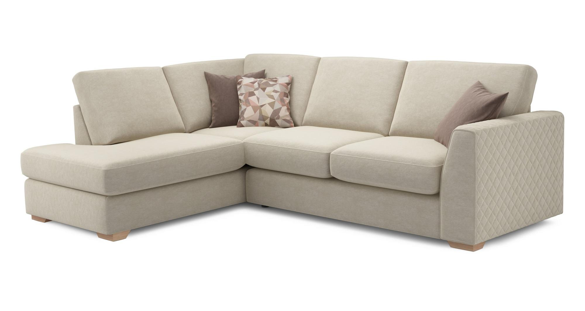 Dfs Eleanor Cream Fabric Right Arm Facing Open End Corner Sofa