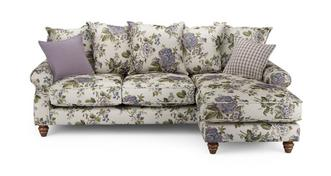Ellie Floral Right Hand Facing 4 Seater Chaise End Sofa