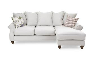 Plain Right Hand Facing 4 Seater Chaise End Sofa