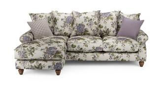 Ellie Floral Left Hand Facing 4 Seater Chaise End Sofa