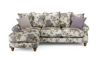 Floral Left Hand Facing 4 Seater Chaise End Sofa Ellie Floral