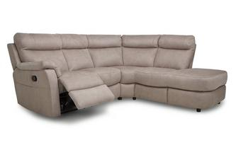 Option B Left Arm Facing 2 Piece Manual Recliner Corner Sofa Arizona