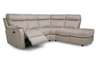 Option C Left Arm Facing 2 Piece Electric Recliner Corner Sofa