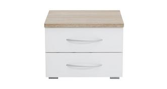 Endeavour 2 Drawer Bedside Table