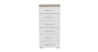 Endeavour 6 Drawer Narrow Chest