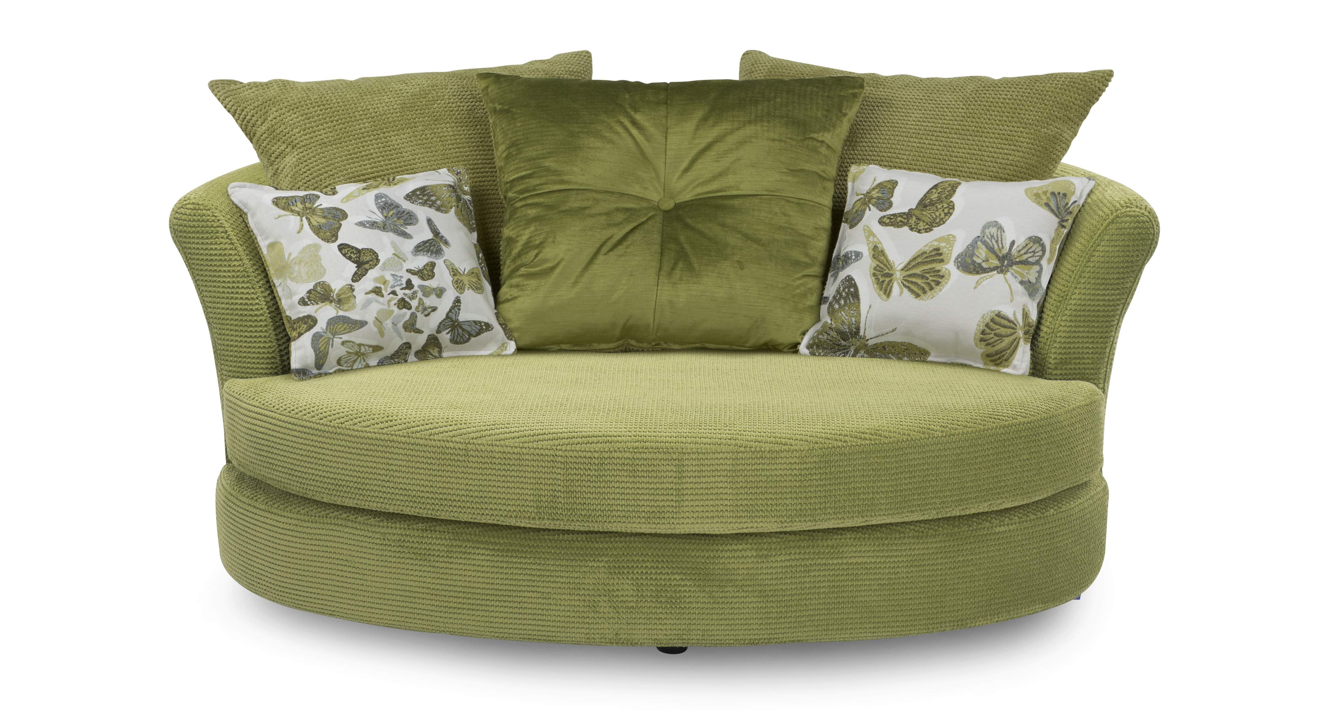 Dfs Escape Set 2 Seater Lime Green Sofa Bed And Cuddler