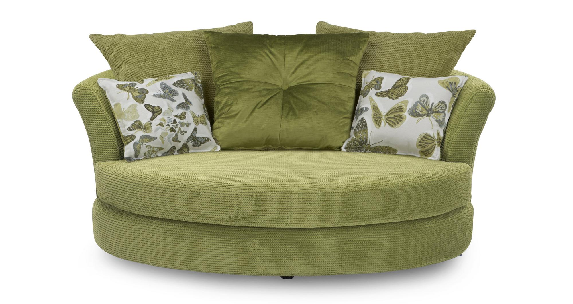 Dfs Escape Lime Green Fabric Set Sofa Bed Cuddler