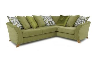 Left Hand Facing 2 Piece Pillow Back Corner Sofa Escape