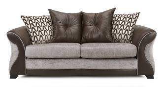 Eternity 3 Seater Pillow Back Deluxe Sofa Bed