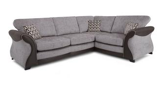 Eternity Left Hand Facing 3 Seater Formal Back Deluxe Corner Sofa Bed