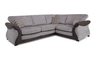 Left Hand Facing 3 Seater Formal Back Deluxe Corner Sofa Bed Eternity