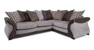 Eternity Left Hand Facing 3 Seater Pillow Back Deluxe Corner Sofa Bed