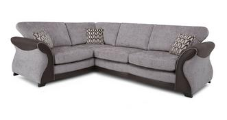 Eternity Right Hand Facing 3 Seater Formal Back Deluxe Corner Sofa Bed