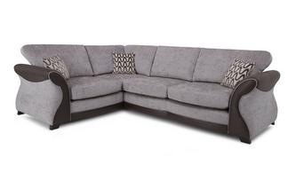 Right Hand Facing 3 Seater Formal Back Deluxe Corner Sofa Bed Eternity