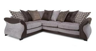 Eternity Right Hand Facing 3 Seater Pillow Back Deluxe Corner Sofa Bed