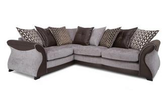 Right Hand Facing 3 Seater Pillow Back Deluxe Corner Sofa Bed Eternity