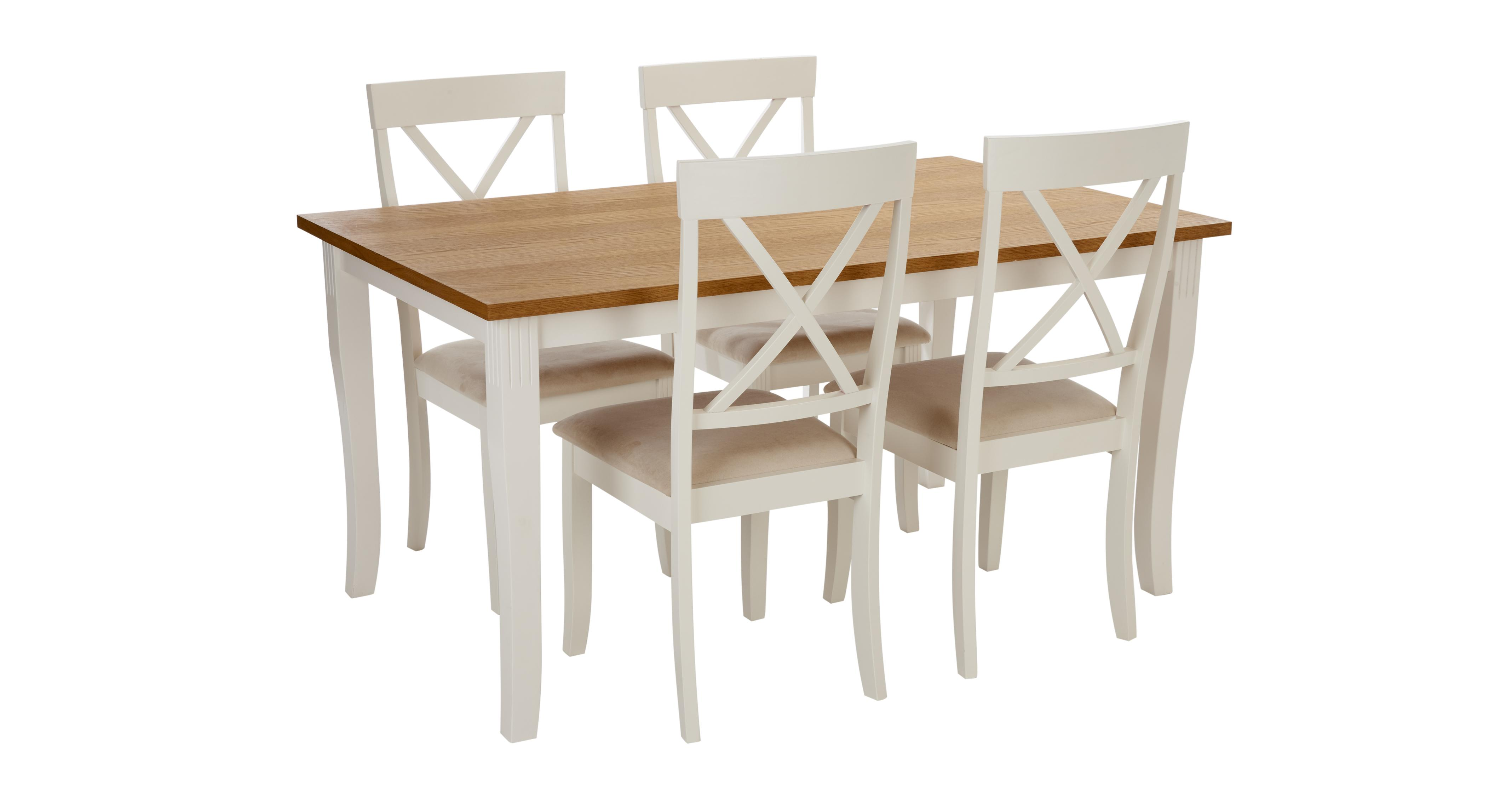 Evesham rectangular dining table set of 4 chairs dfs for White dining table and 4 chairs