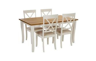 Rectangular Dining Table & Set of 4 Chairs Evesham