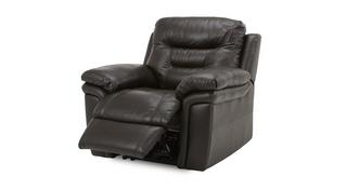 Evolution Leather and Leather Look Manual Recliner Chair