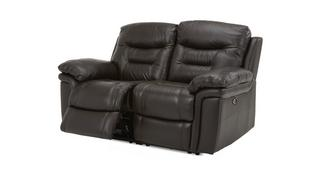 Evolution Leather and Leather Look 2 Seater Electric Recliner
