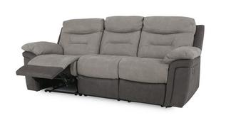 Evolution Fabric 3 Seater Manual Recliner