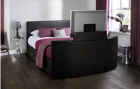 Evolve Double (4 ft 6) Faux Leather TV Bedframe Evolve