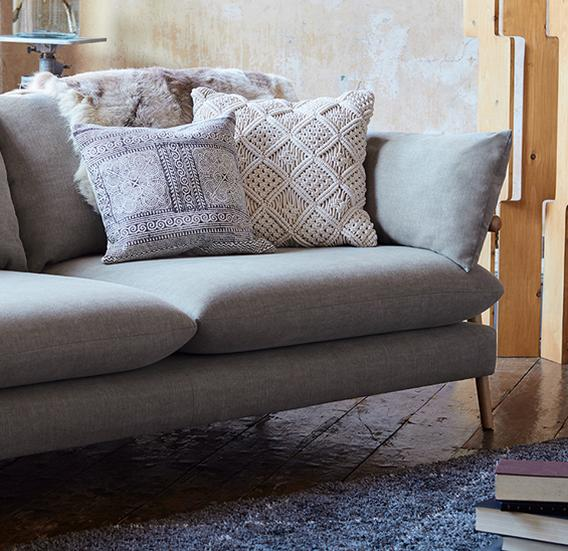 Exclusive brand fabric sofas at DFS