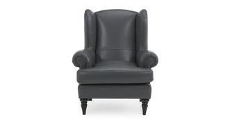 Fame Leather High Back Wing Chair