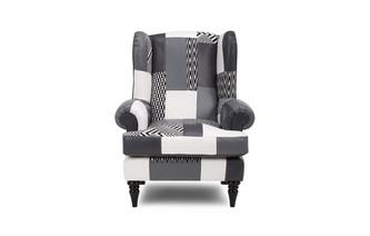 Patch High Back Wing Chair