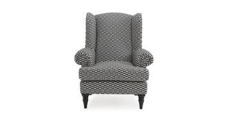 Fame Pattern High Back Wing Chair
