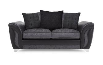 2 Seater Pillow Back Deluxe Sofa Bed