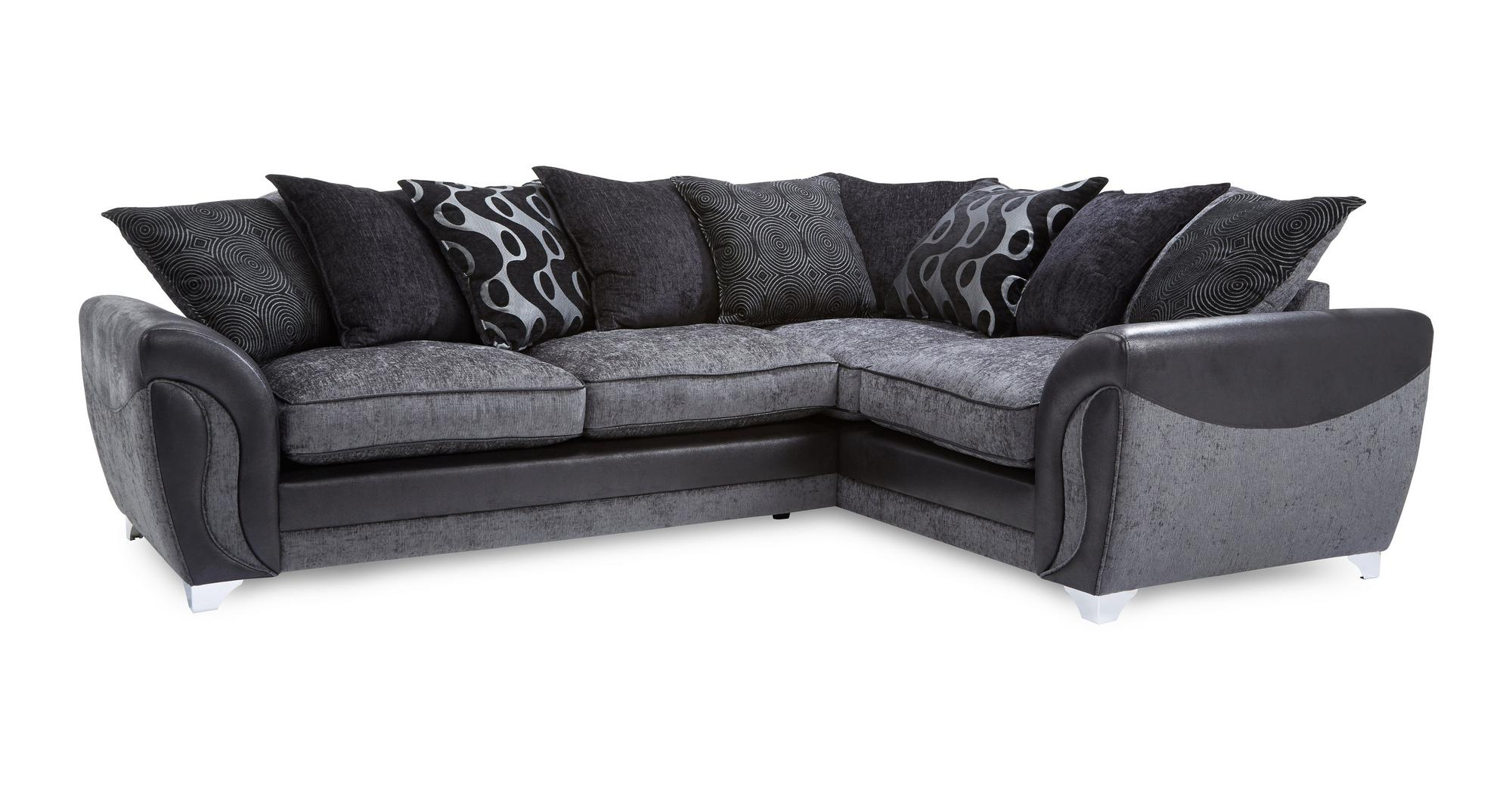 Dfs Farrow Charcoal Fabric Left Hand Facing Pillow Back Corner Sofa Ebay