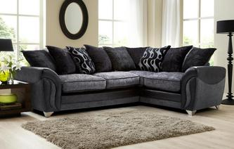 Farrow Left Hand Facing 3 Seater Pillow Back Corner Sofa Talia